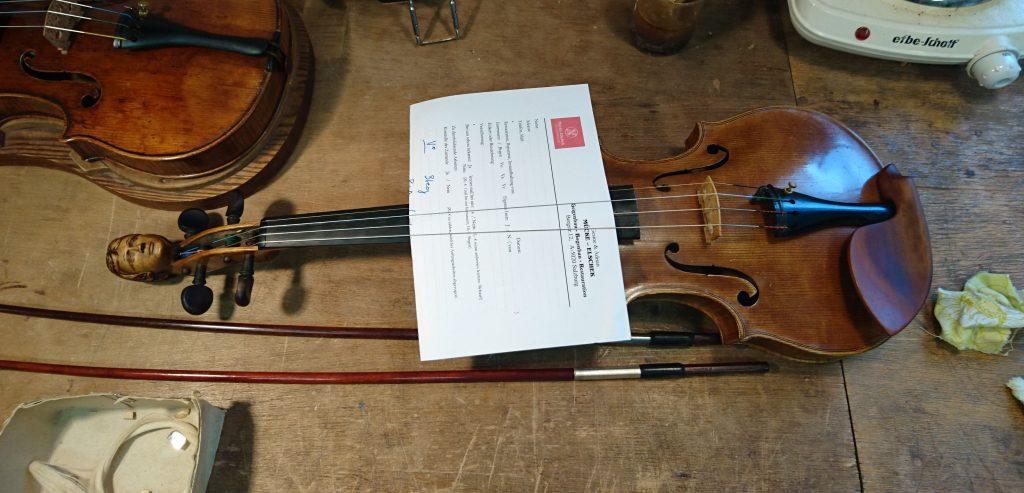 wiederaufgetauchte Geige